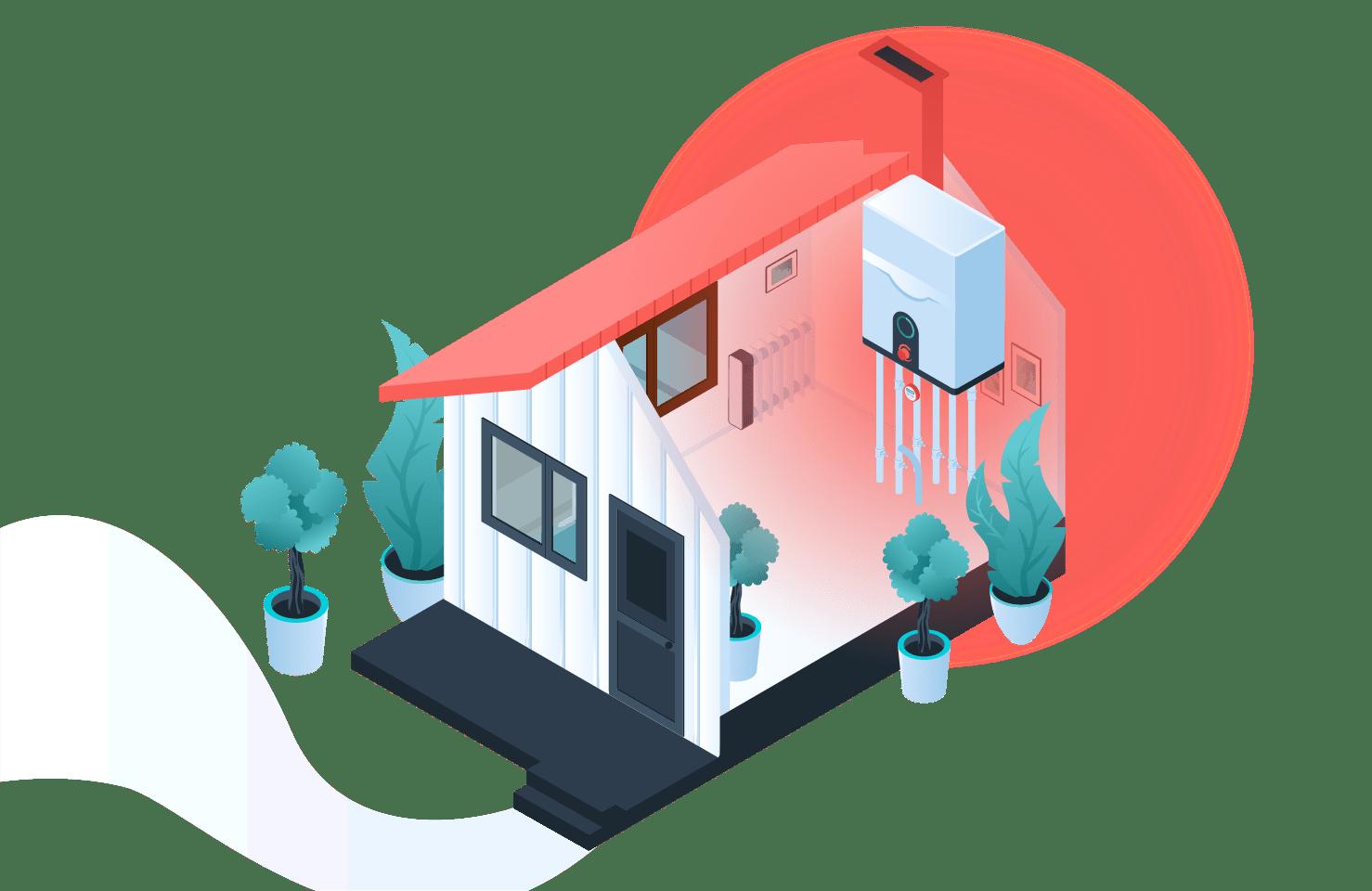 Heatable boilers
