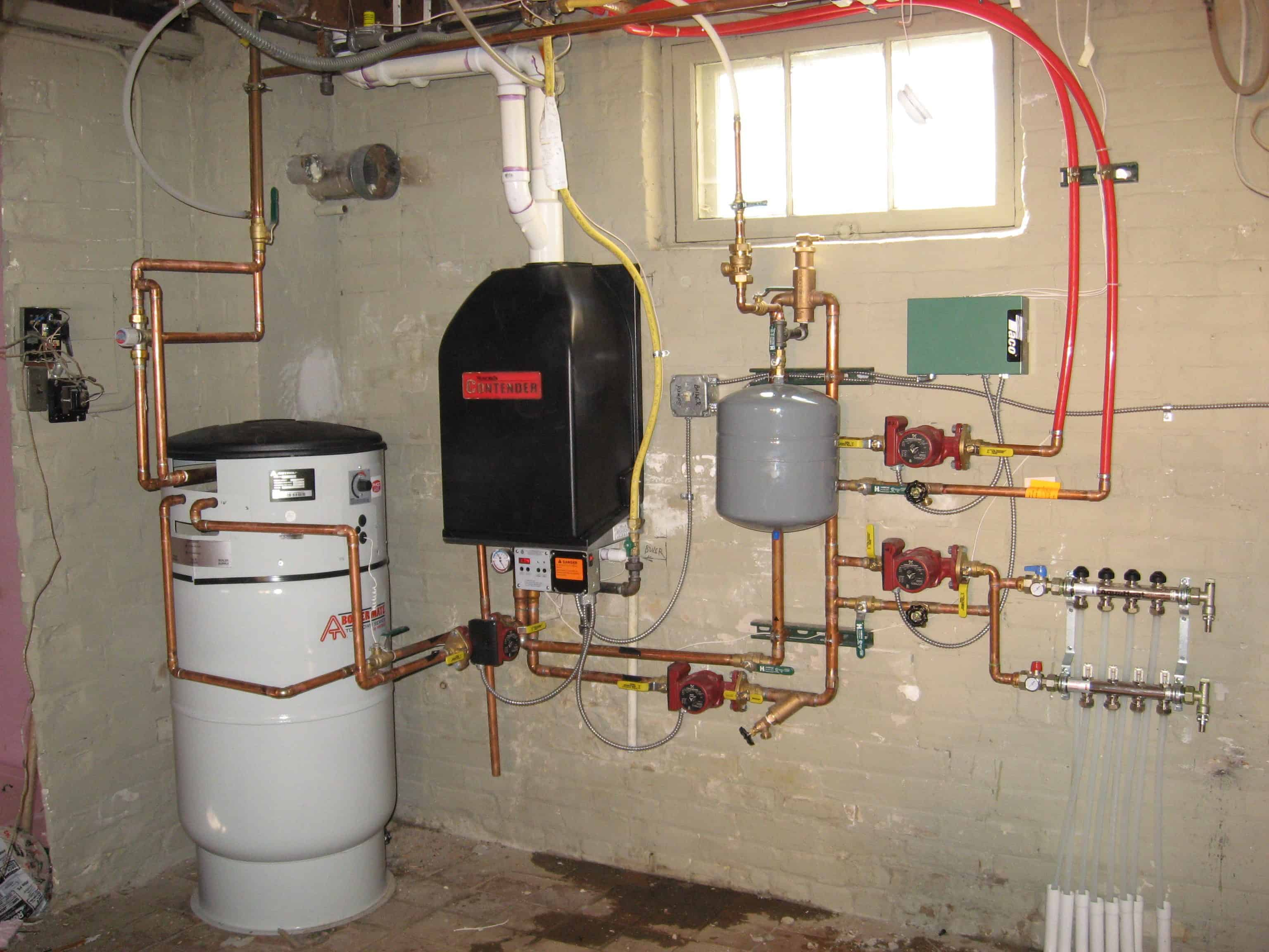 Installation of heating for the home 92