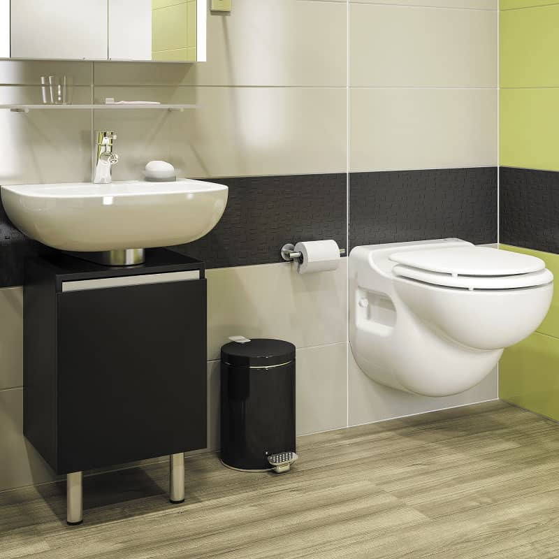 Saniflo Wall Mounted Toilet. Macerating Toilet Complete with Carrier Sanistar