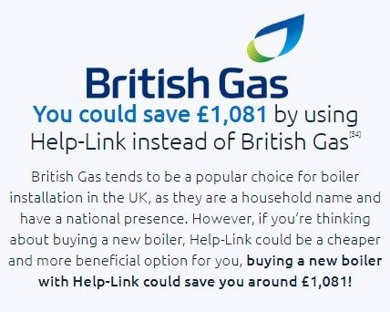 New Boiler Installation Costs by British Gas