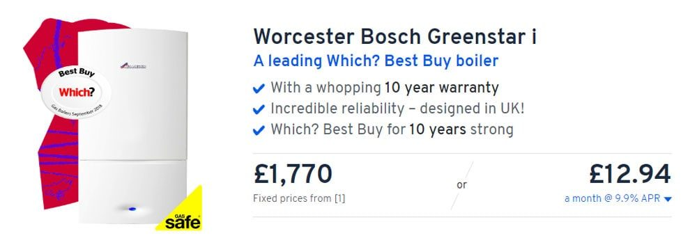 Worcester Bosch Greenstar i from Heatable