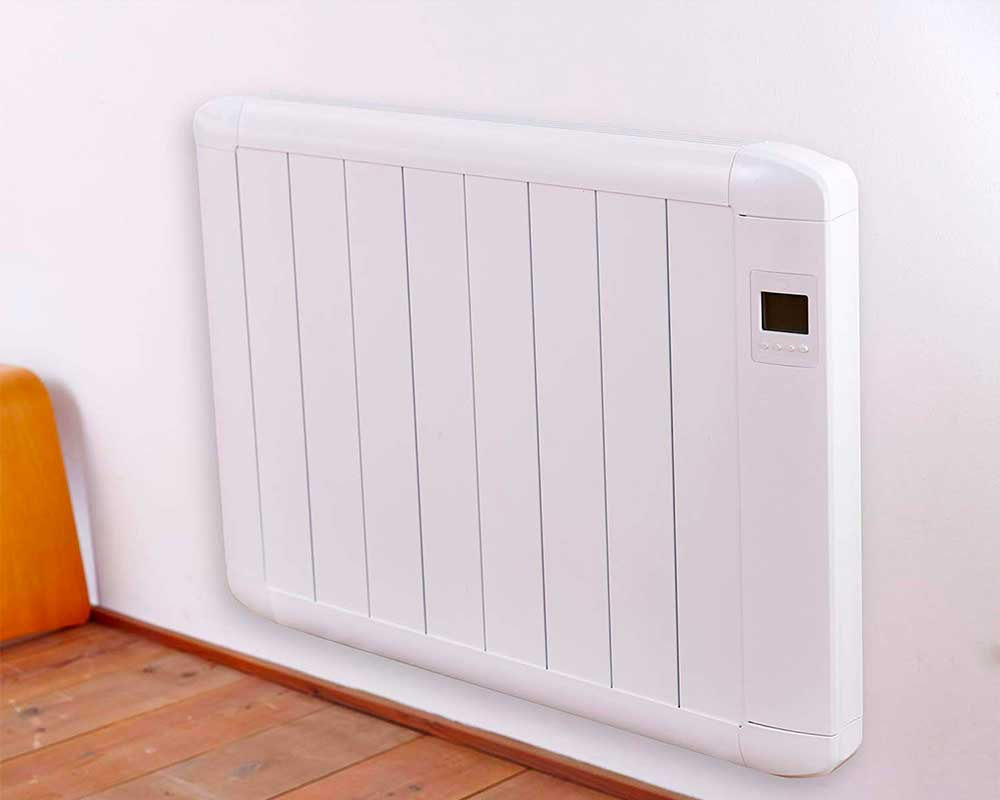 Economy+ Electric Radiator - Electric Heater, Wall Mounted, Plug in Radiator, Slimline, Low Energy, Silica Filled Heater