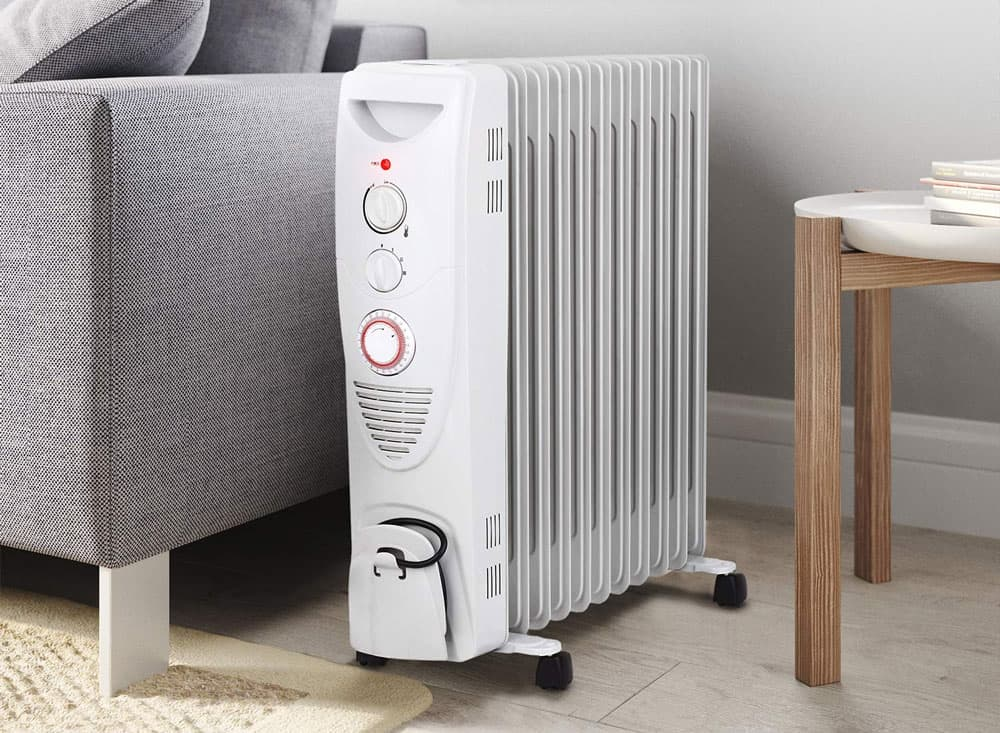 Pro Breeze® 2500W Oil Filled Radiator, 11 Fin - Portable Electric Heater