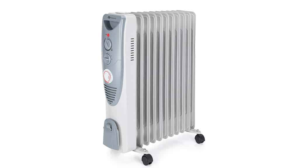 PureMate 2500W Oil Filled Radiator 11 Fin – Portable Electric Heater