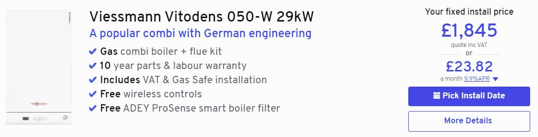 Viessmann Vitodens 050-W from Heatable