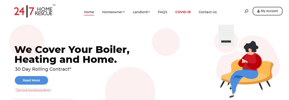 24/7 Home Rescue Landlord Boiler & Heating Cover Plans (REVIEW)