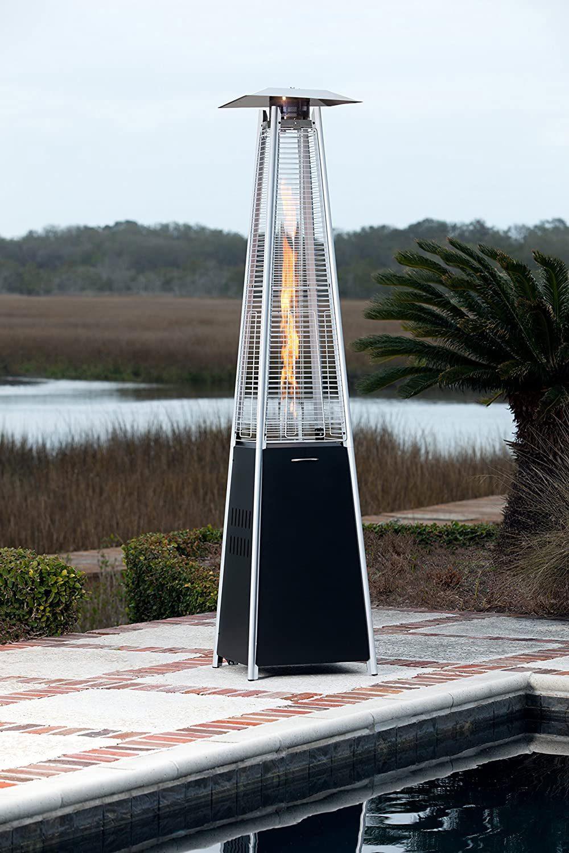 AmazonBasics Black Pyramid Gas Patio Heater