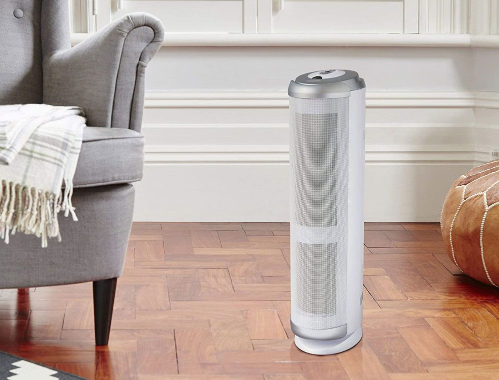 Bionaire Tower Air Purifier with Permanent HEPA-Type Filter and Particle Sensor for Allergies