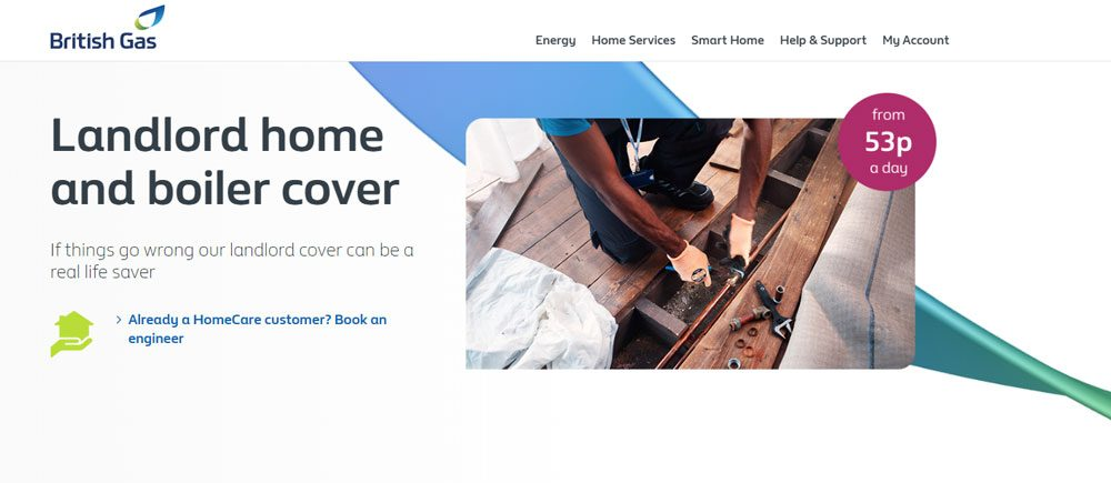 BritishGas Landlord home and boiler cover