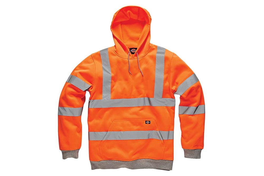 Dickies HI VIZ VIS Hoodie HIGH Visibility Hooded Sweatshirt Safety Work Hoody