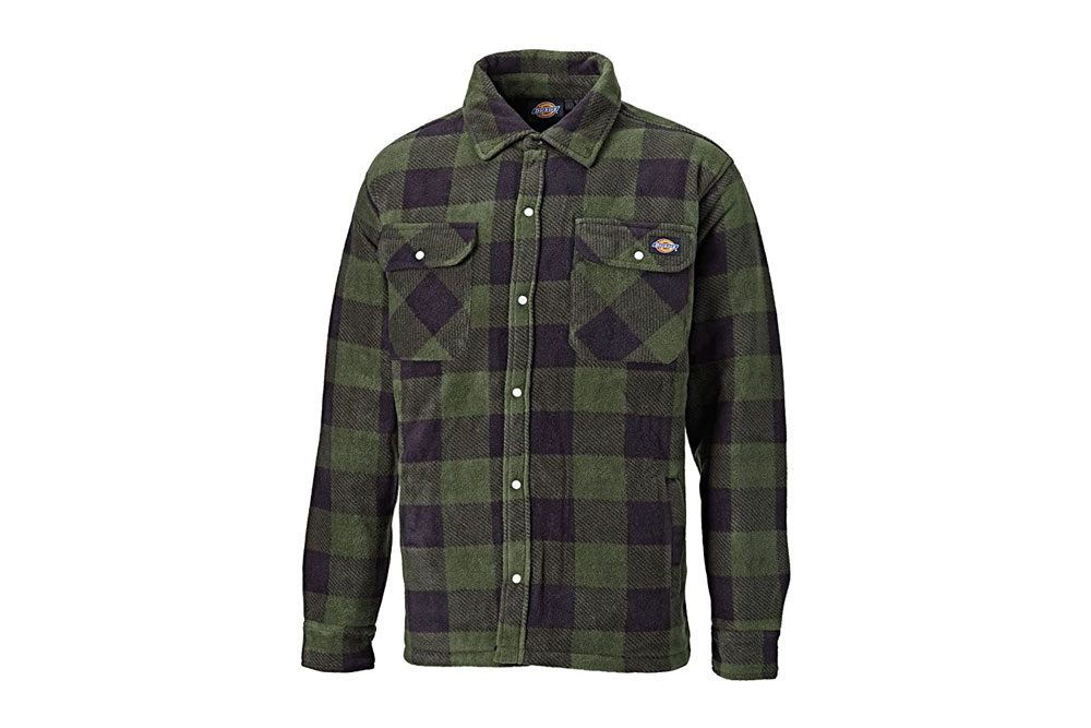 Dickies Portland Padded Shirt Fleece Workwear (SH5000) WARM PADDED LINED GREEN & NAVY