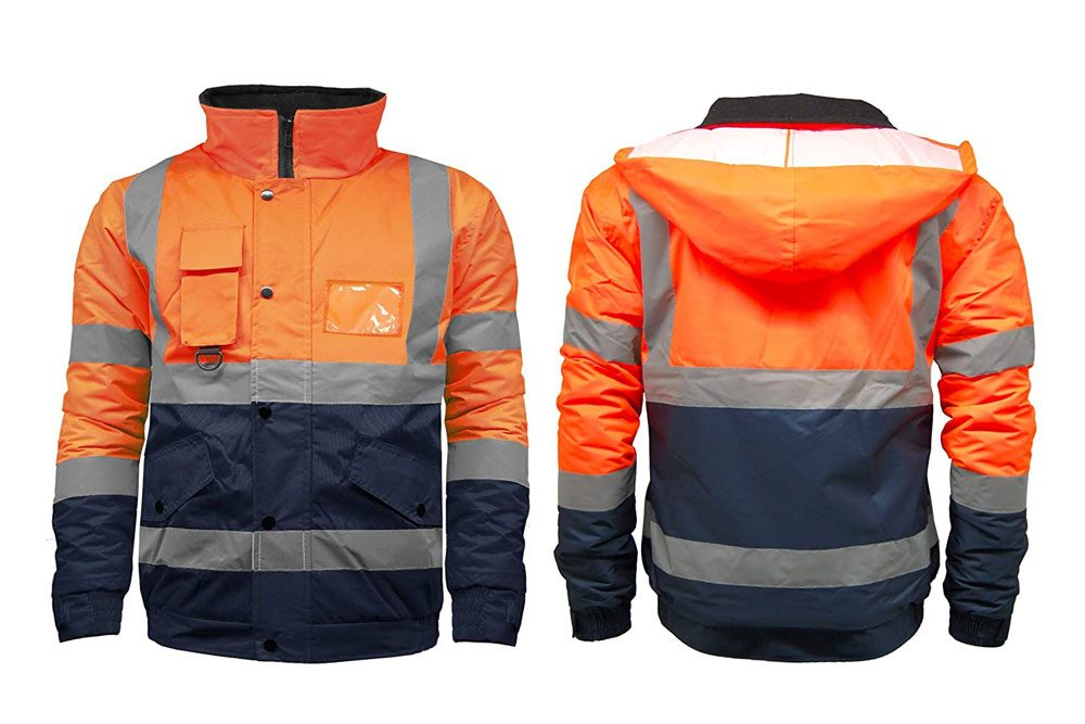 Durus Workwear - High Visibility Safety Security Reflective Workwear Bomber Jacket