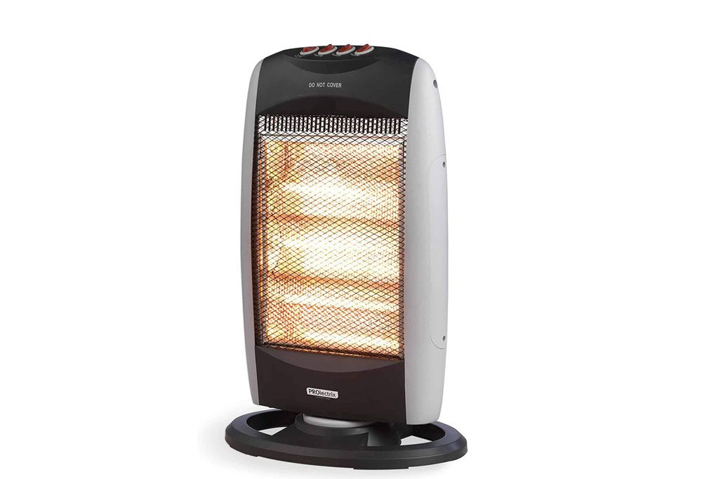 PROLECTRIX COMBO-5915 Three Bar Portable Halogen Heater with 3 Heat Settings and Wide Angle Oscillating Function