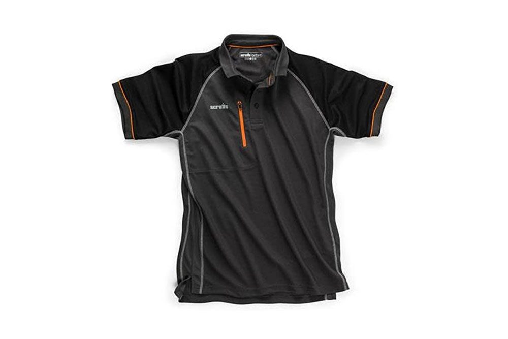 SCRUFFS Trade Active Polo T Shirt Graphite New for 2018. Workwear Summer Clothing