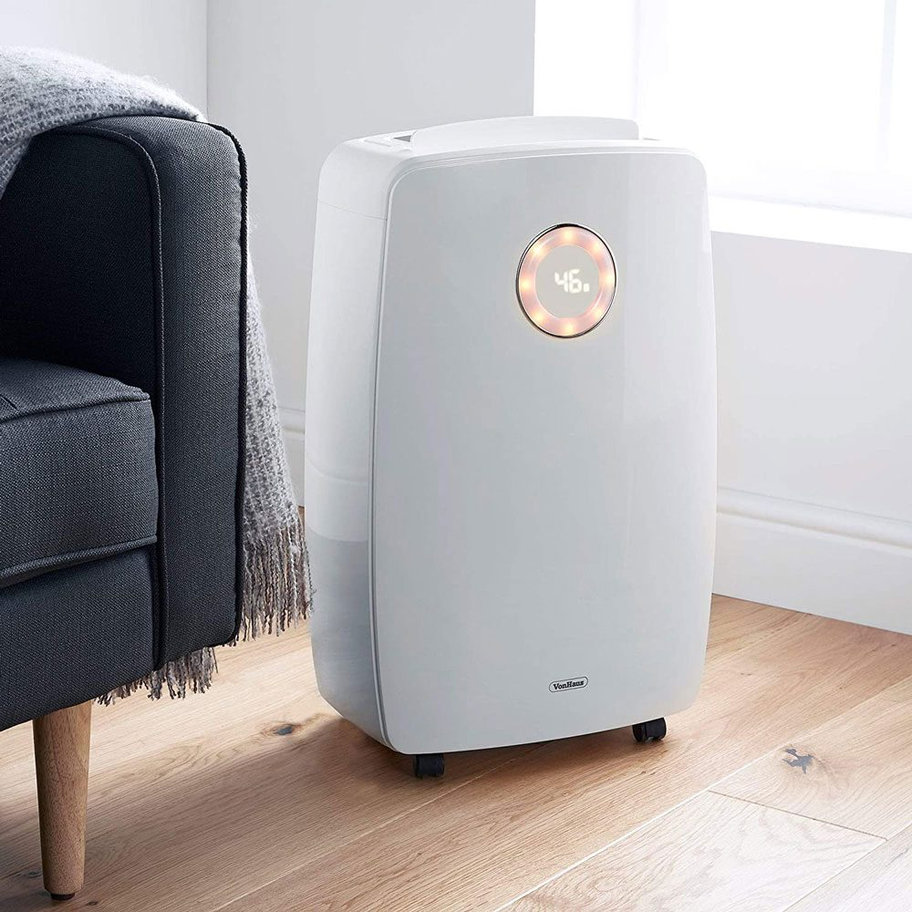 VonHaus 20L/Day Dehumidifier – Large Air Treatment System – Extracts Damp & Moisture