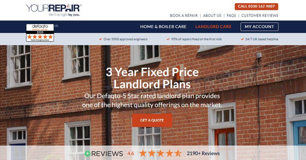 YourRepair Landlord Boiler Cover - Home Emergency Breakdown Cover