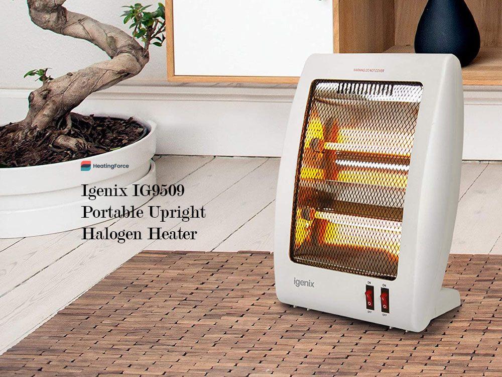 Igenix IG9509 Portable Upright Halogen Electric Heater