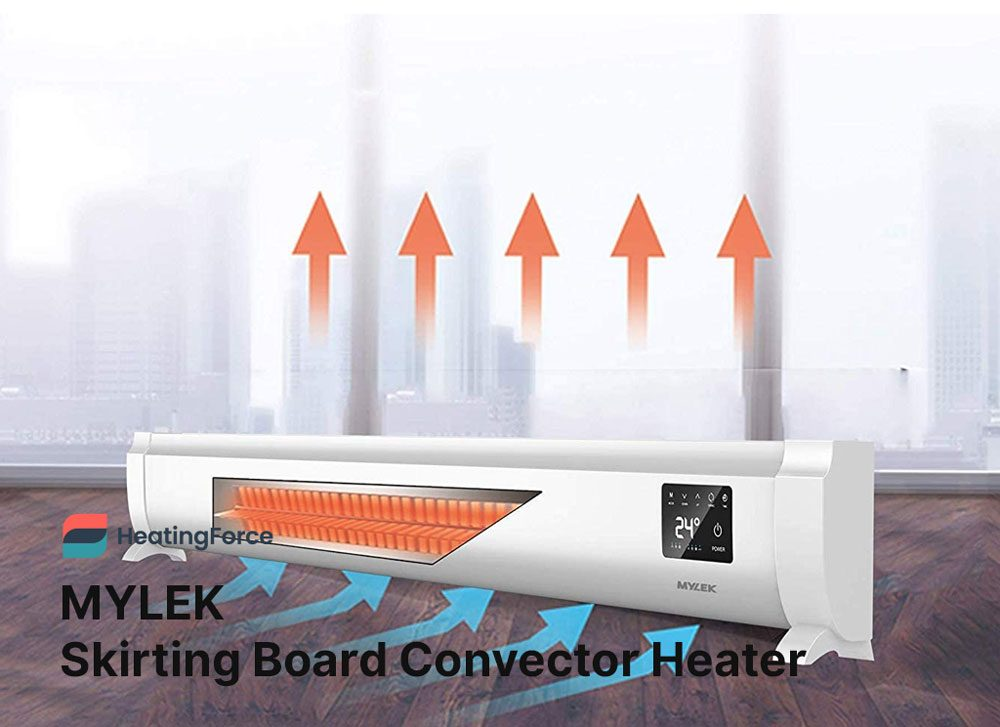 MYLEK Electric Skirting Board Convector Heater 1KW