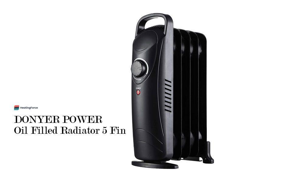 DONYER POWER Oil Filled Radiator 5 Fin