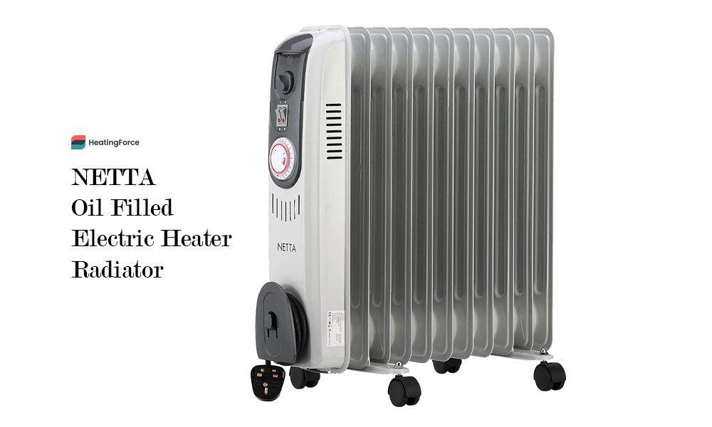 NETTA 2500W Oil Filled Electric Heater Radiator