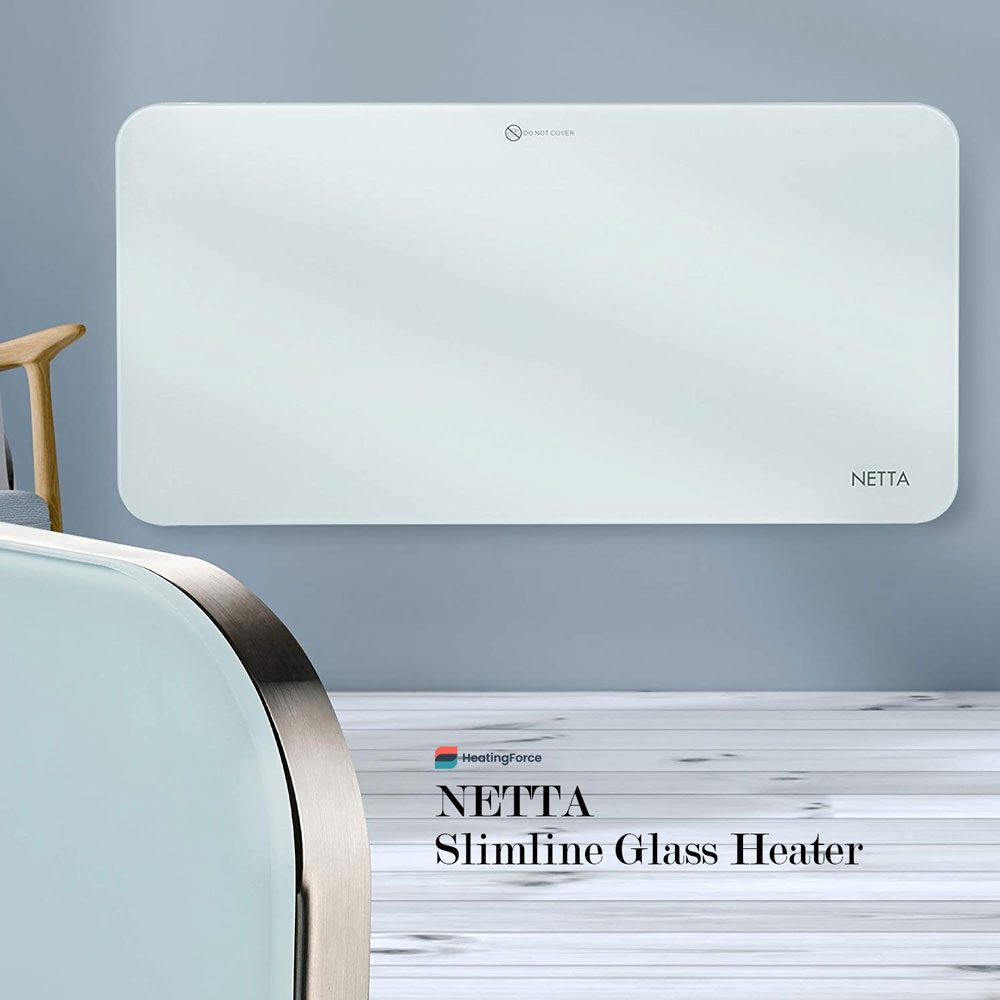NETTA Slimline Glass Heater