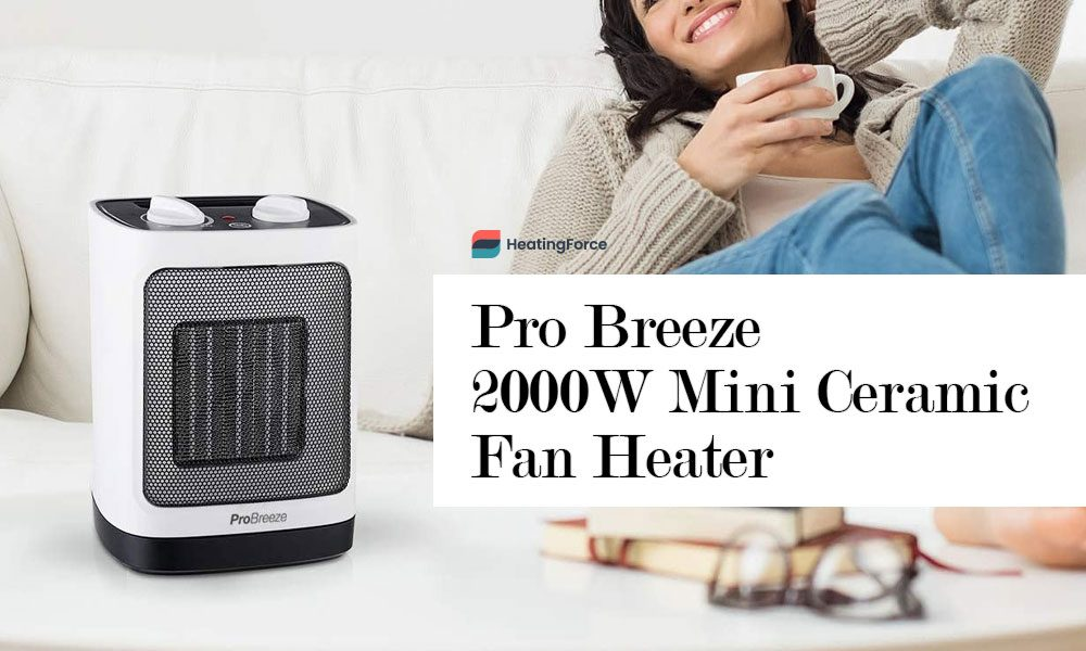 Pro Breeze® 2000W Mini Ceramic Fan Heater