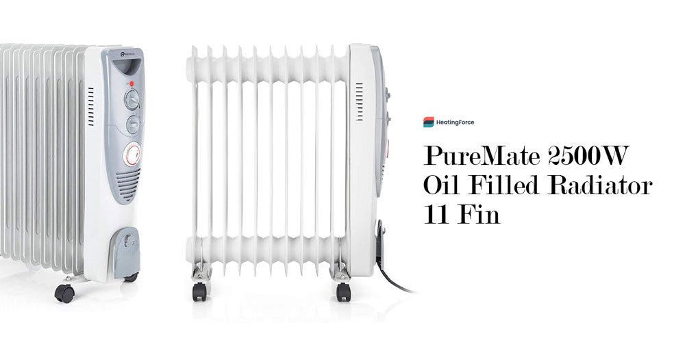 PureMate 2500W Oil Filled Radiator 11 Fin