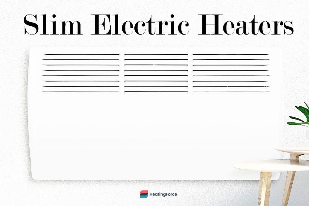 Slim electric heater