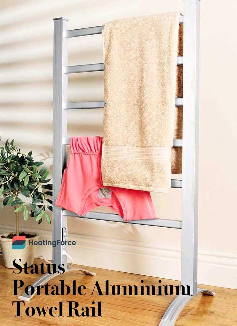 Status Portable Aluminium Towel Rail