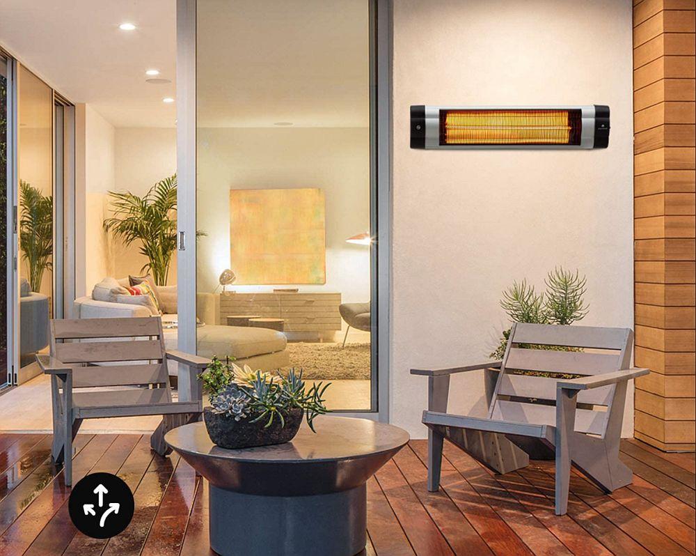 blumfeldt Rising Sun Mono - Infrared Radiant Heater, Patio Radiant Heater