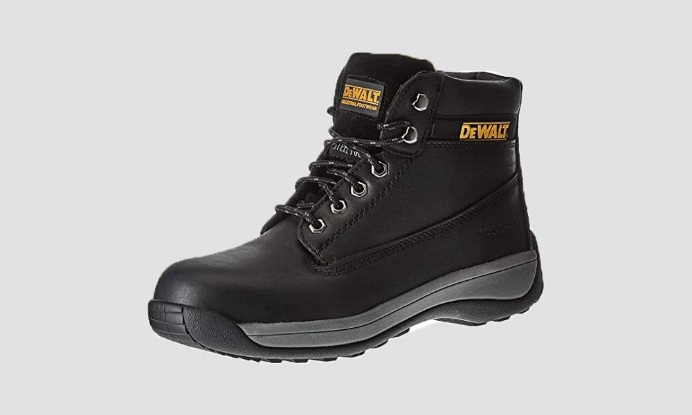 DEWALT Apprentice Mens SB Leather Safety Steel Toe Lace Up Boots
