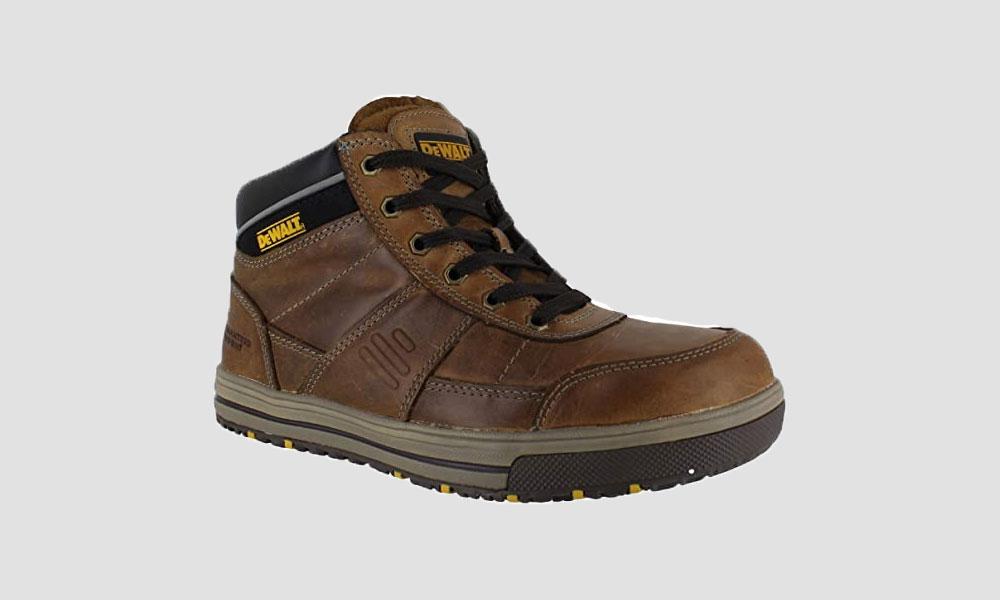 DEWALT Camden Mens Leather SB Steel Toe Lace Up Work Boots