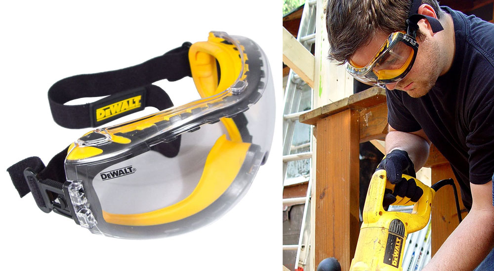 DEWALT Concealer Anti-Fog Dual Mold Safety Goggles