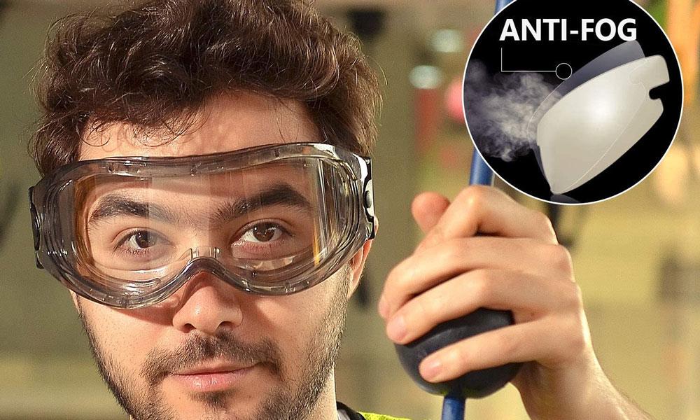 Safetyear Anti Fog Safety Goggles - SG007 Wraparound UV Protection Safety Glasses