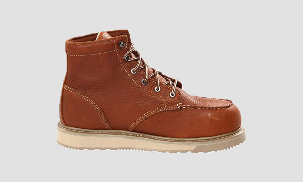 """Timberland Pro - Mens 6"""" Barstow Wedge Boot Moc Alloy Safety Toe"""