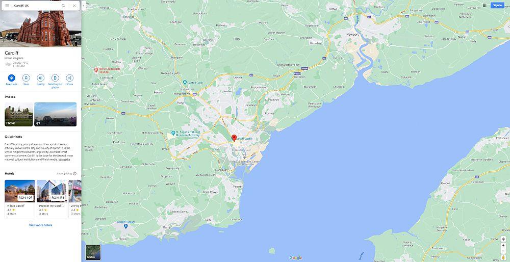 Cardiff UK map
