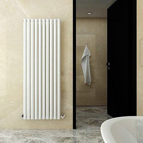 ELEGANT Vertical Column Designer Radiator Single Oval Panel