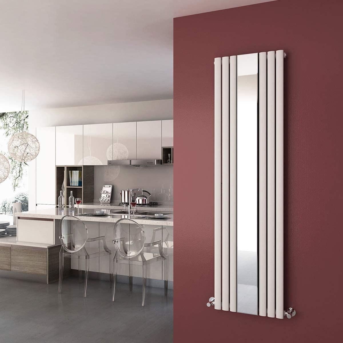 ELEGANT Vertical Mirror Radiator Designer Oval Column Panel