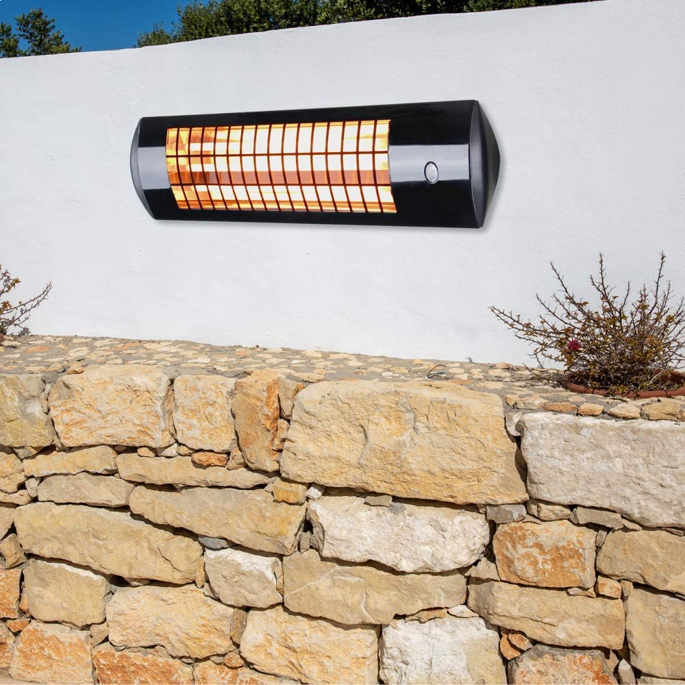 Heatlab 1.8kW Wall Mounted Quartz Outdoor Indoor Patio Heater