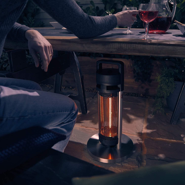 Swan Al Fresco SH16330N Portable Patio Heater, Anodized Aluminium Alloy Frame, Carbon Fibre Heating Elements