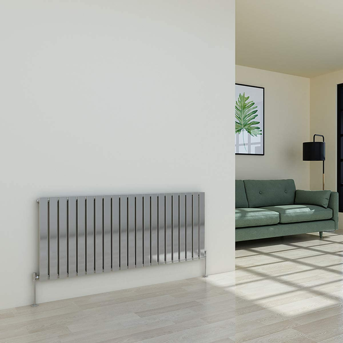 WarmeHaus Horizontal Designer Radiator Flat Panel Modern Heating