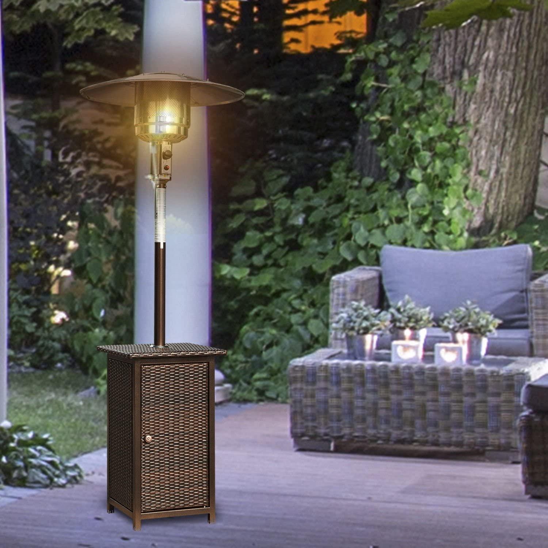HOMCOM 12KW Patio Heater Free Standing Outdoor Garden Heating Rattan