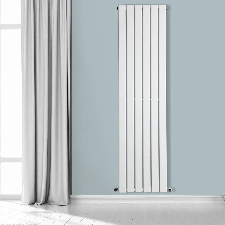 NRG Vertical 1800x408 Flat Panel Column Radiator Bathroom Central Heating