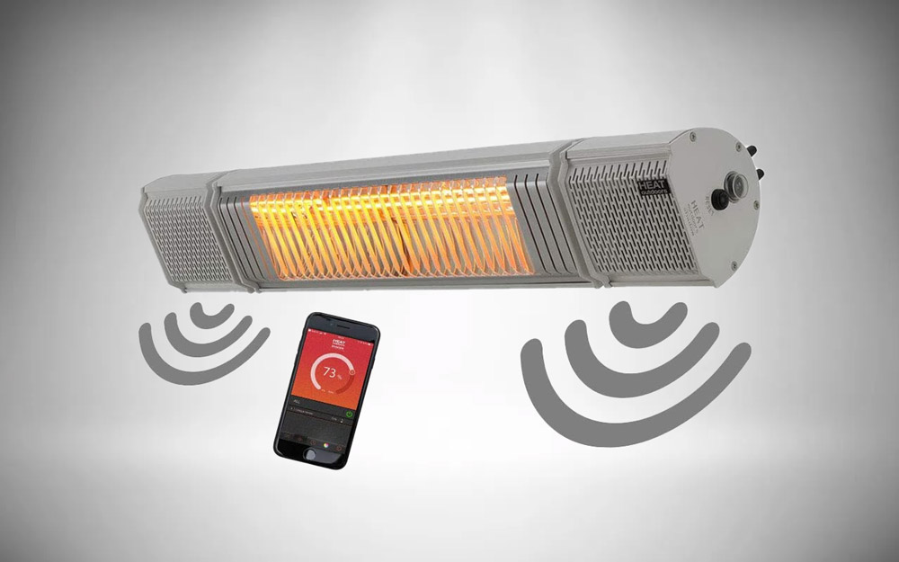 Heat Outdoors Heat and Beat Infrared Patio Heater with Bluetooth Speaker