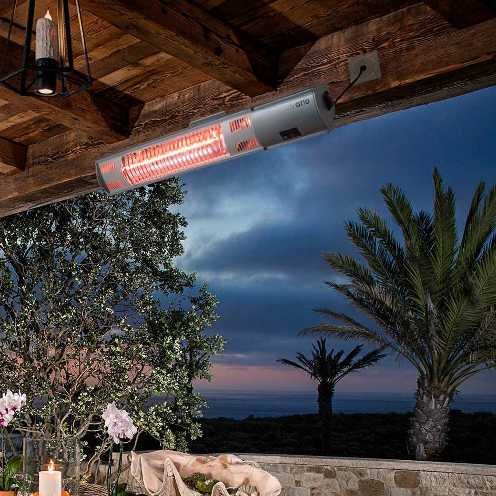 ATR ARTTOREAL Instant Warm Wall Mounted Infrared Electic Patio Heater with Remote Control