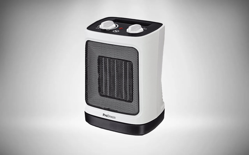 Pro Breeze® 2000W Mini Ceramic Fan Heater - Automatic Oscillation