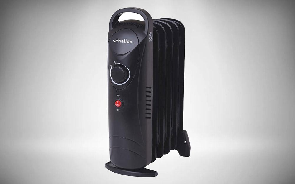 Schallen 800W 6 Fin Mini Small Portable Electric Slim Oil Filled Radiator Heater
