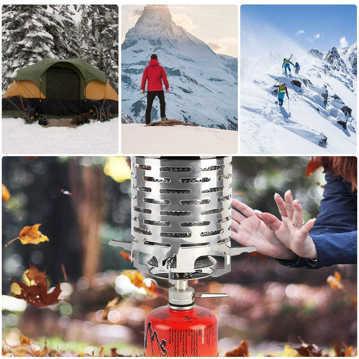 ZONSUSE Camping Mini Heater,Portable Camping Stove Heater
