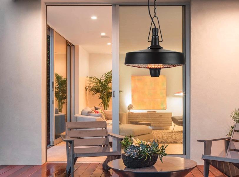 The classy Camden hanging patio heater from Blumfeld