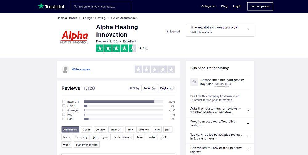 Alpha Boilers - Trustpilot UK